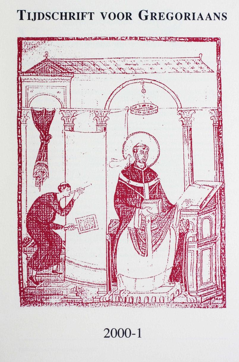 Tijdschrift voor gregoriaans, jaargang 25, nr 1, mrt. 2000