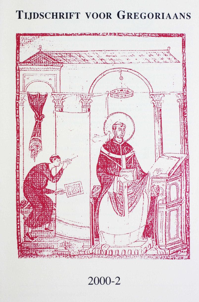 Tijdschrift voor gregoriaans, jaargang 25, nr 2, jun. 2000