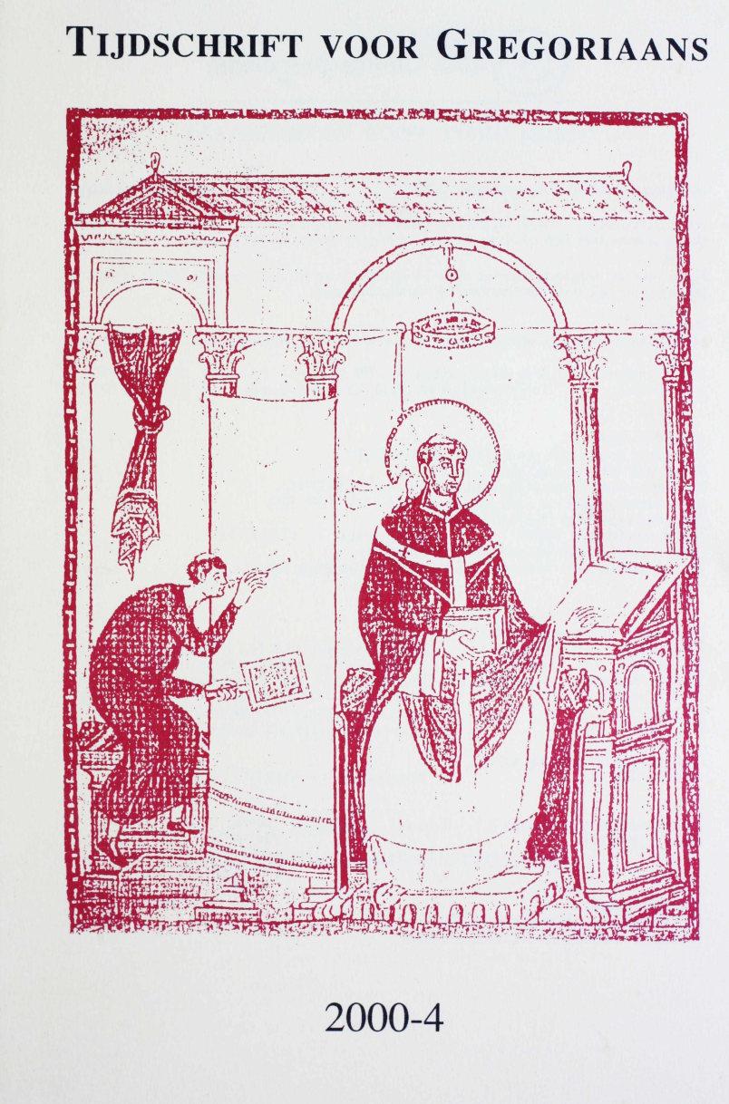 Tijdschrift voor gregoriaans, jaargang 25, nr 4, dec. 2000