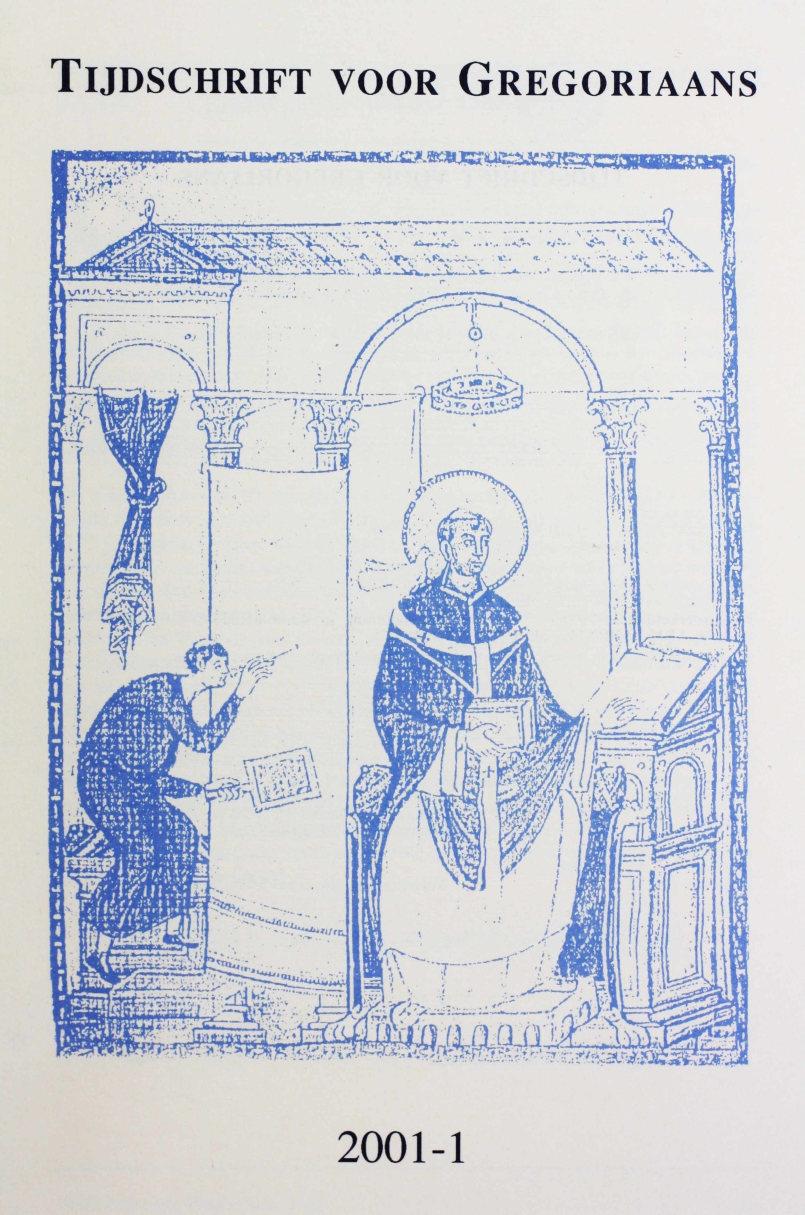 Tijdschrift voor gregoriaans, jaargang 26, nr 1, mrt. 2001
