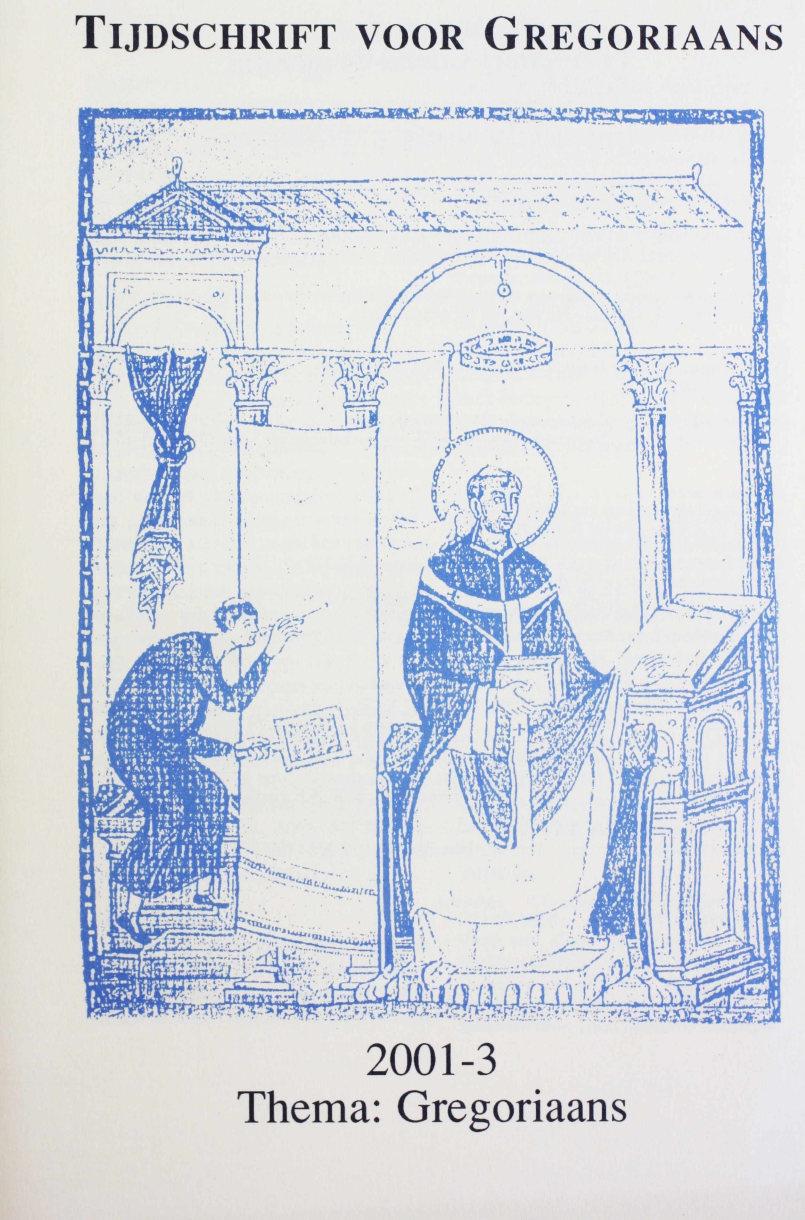 Tijdschrift voor gregoriaans, jaargang 26, nr 3, sept. 2001