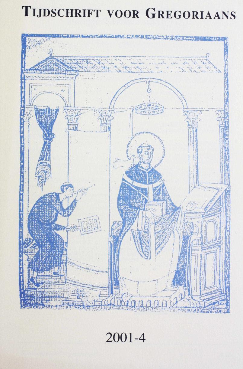 Tijdschrift voor gregoriaans, jaargang 26, nr 4, dec. 2001