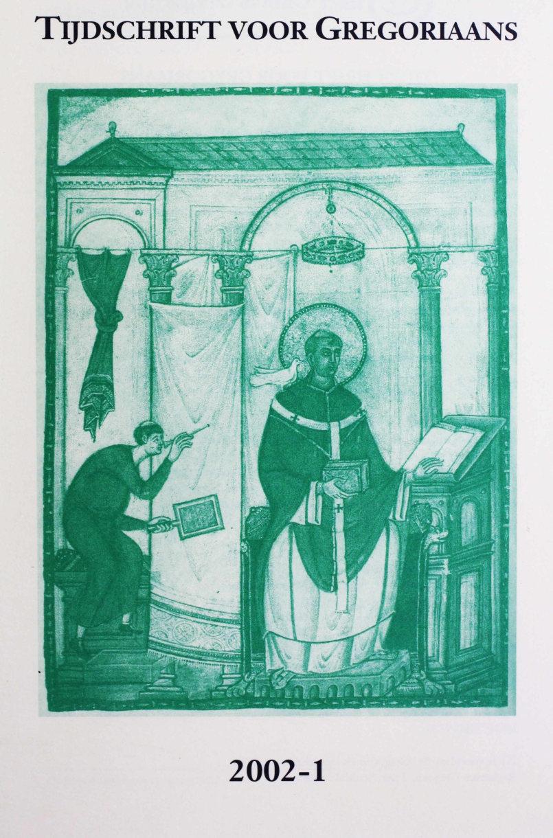 Tijdschrift voor gregoriaans, jaargang 27, nr 1, mrt. 2002