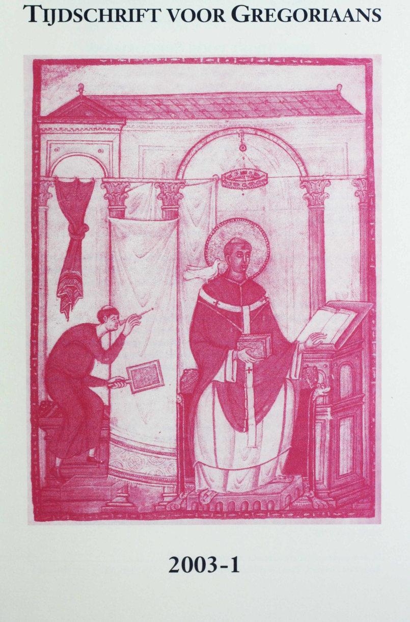 Tijdschrift voor gregoriaans, jaargang 28, nr 1, mrt. 2003