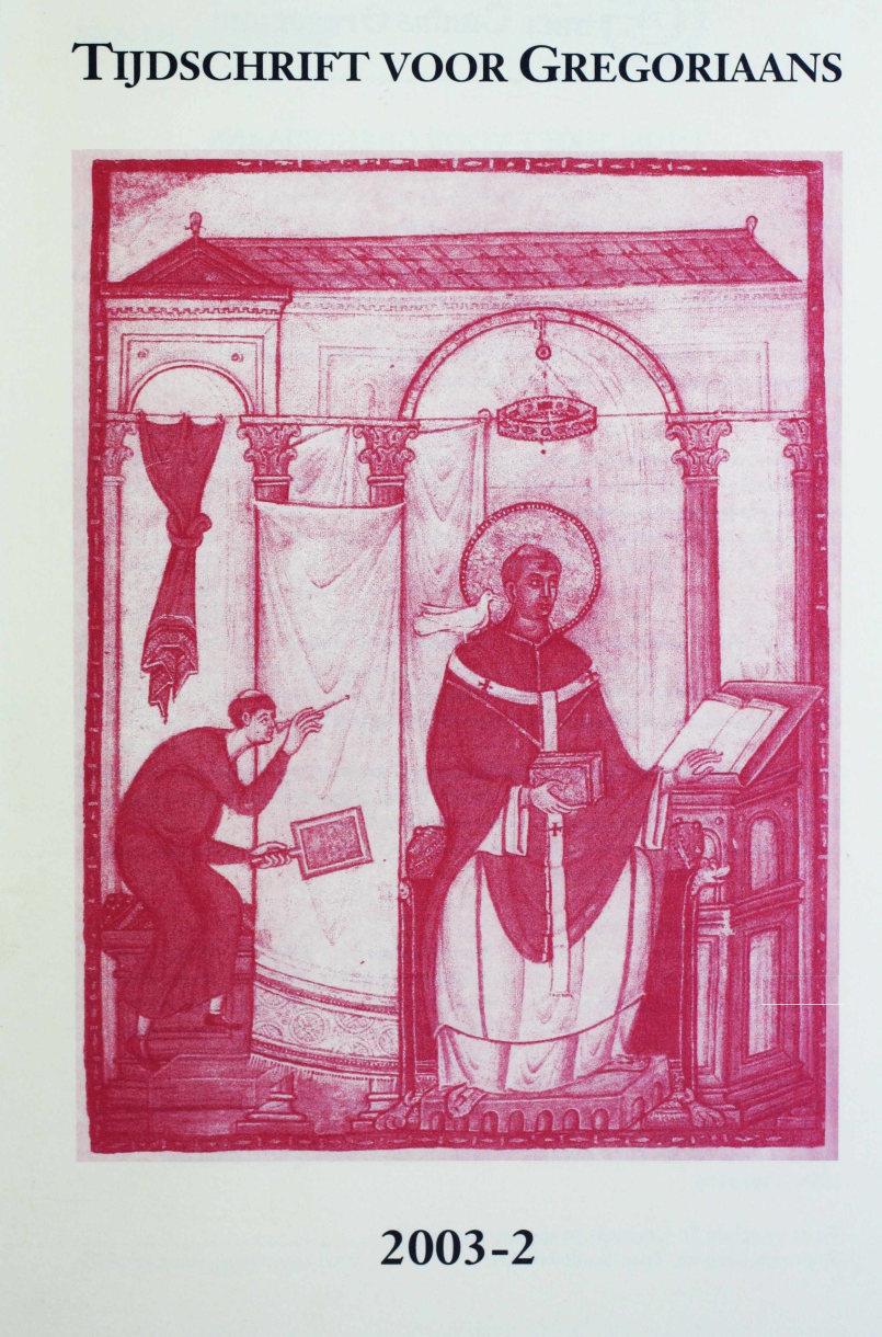 Tijdschrift voor gregoriaans, jaargang 28, nr 2, jun. 2003