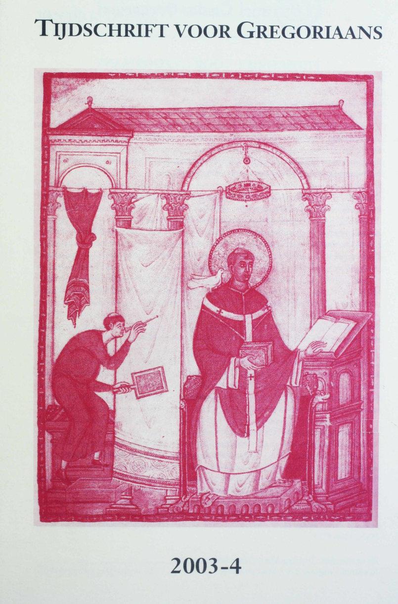 Tijdschrift voor gregoriaans, jaargang 28, nr 4, dec. 2003