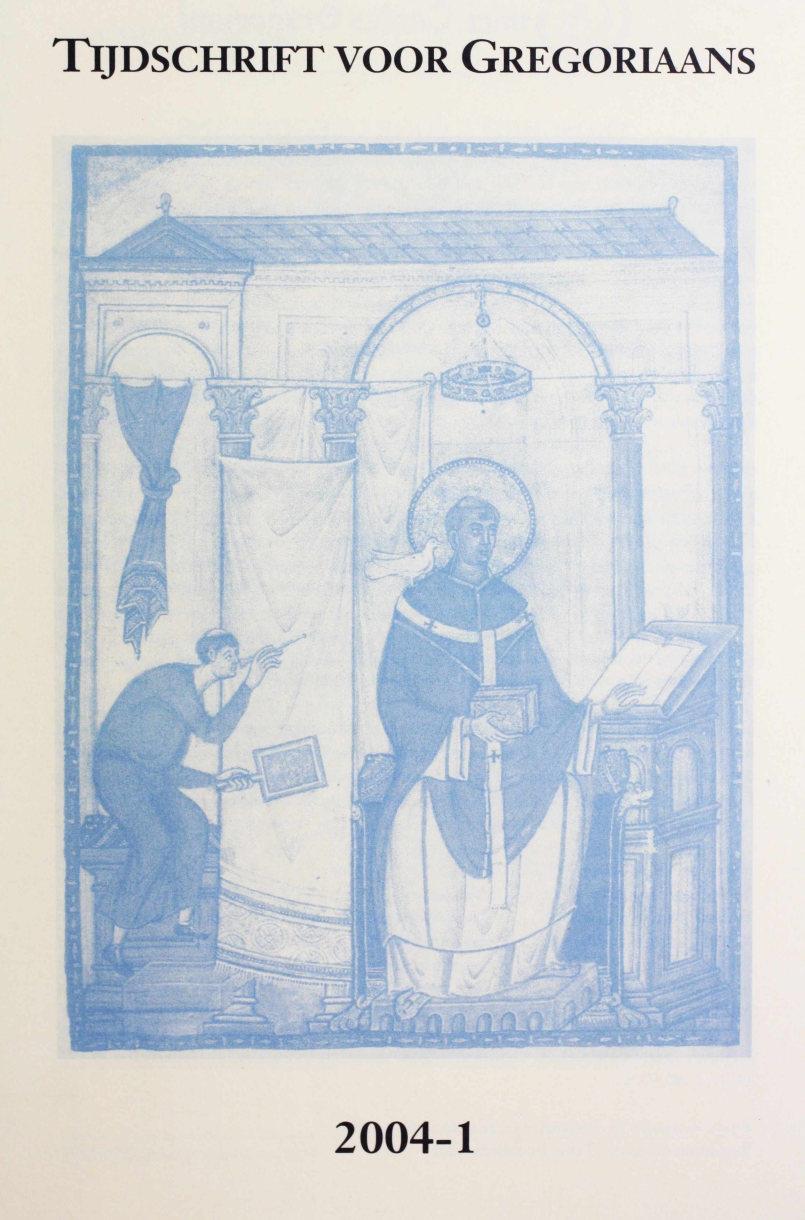 Tijdschrift voor gregoriaans, jaargang 29, nr 1, mrt. 2004