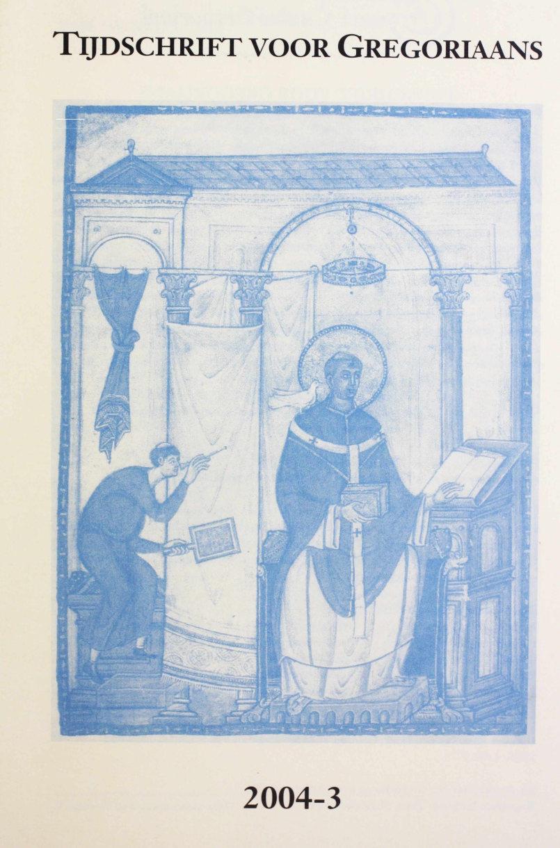 Tijdschrift voor gregoriaans, jaargang 29, nr 3, sept. 2004