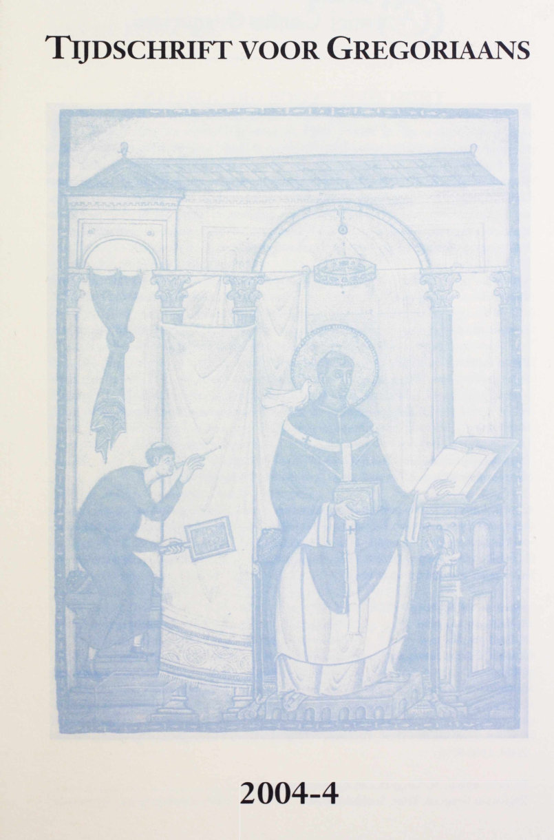 Tijdschrift voor gregoriaans, jaargang 29, nr 4, dec. 2004