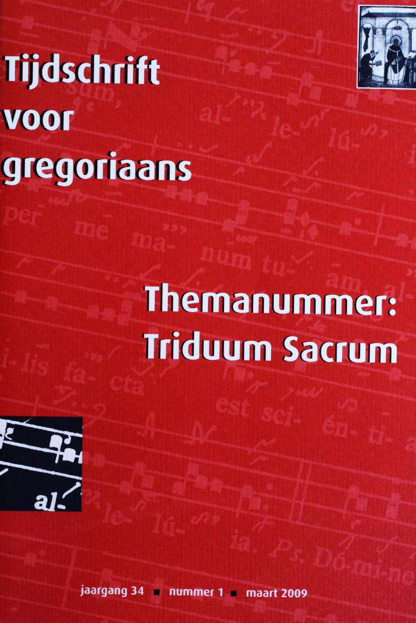 Tijdschrift voor gregoriaans, jaargang 34, nr 1, mrt. 2009