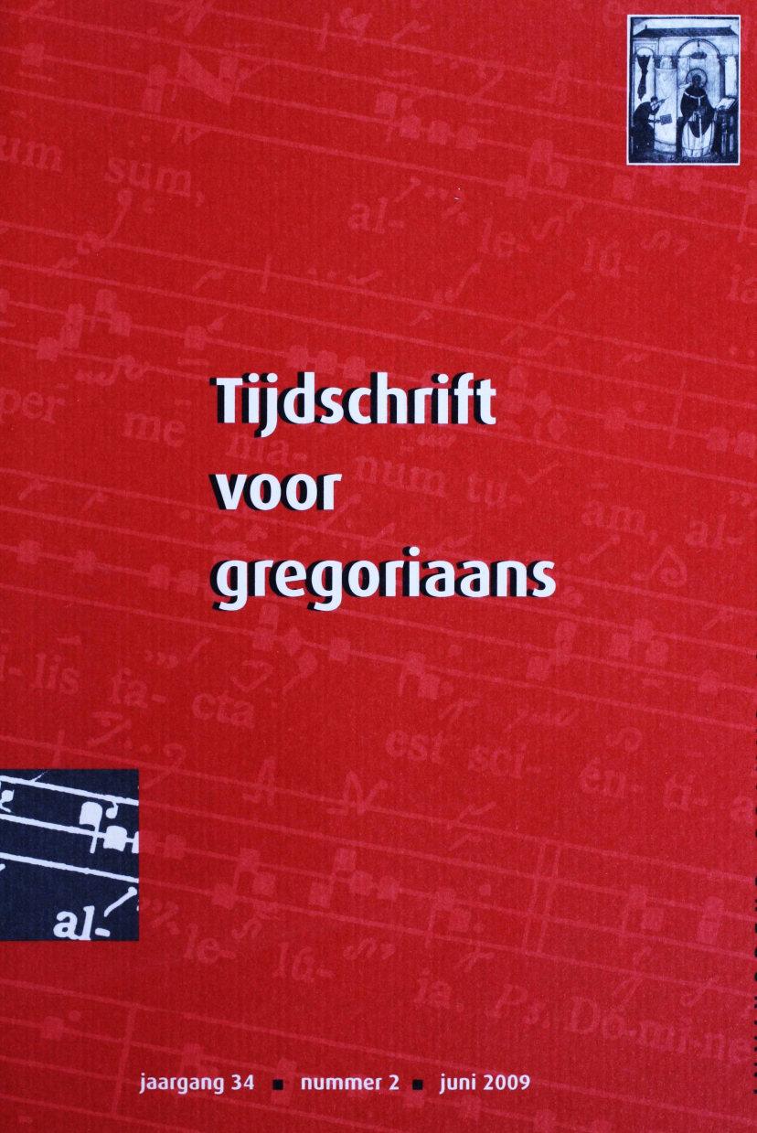 Tijdschrift voor gregoriaans, jaargang 34, nr 2, jun. 2009