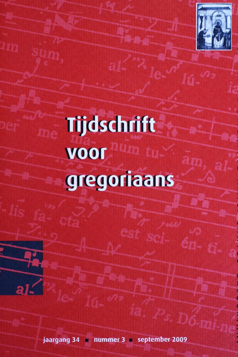 Tijdschrift voor gregoriaans, jaargang 34, nr 3, sept. 2009