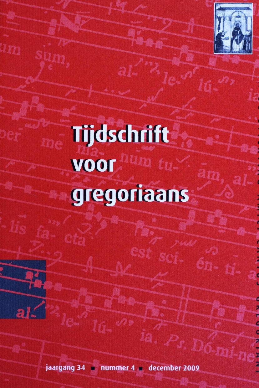 Tijdschrift voor gregoriaans, jaargang 34, nr 4, dec. 2009