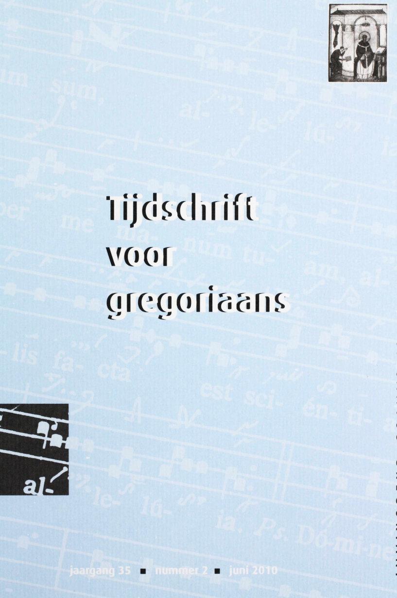 Tijdschrift voor gregoriaans, jaargang 35, nr 2, jun. 2010