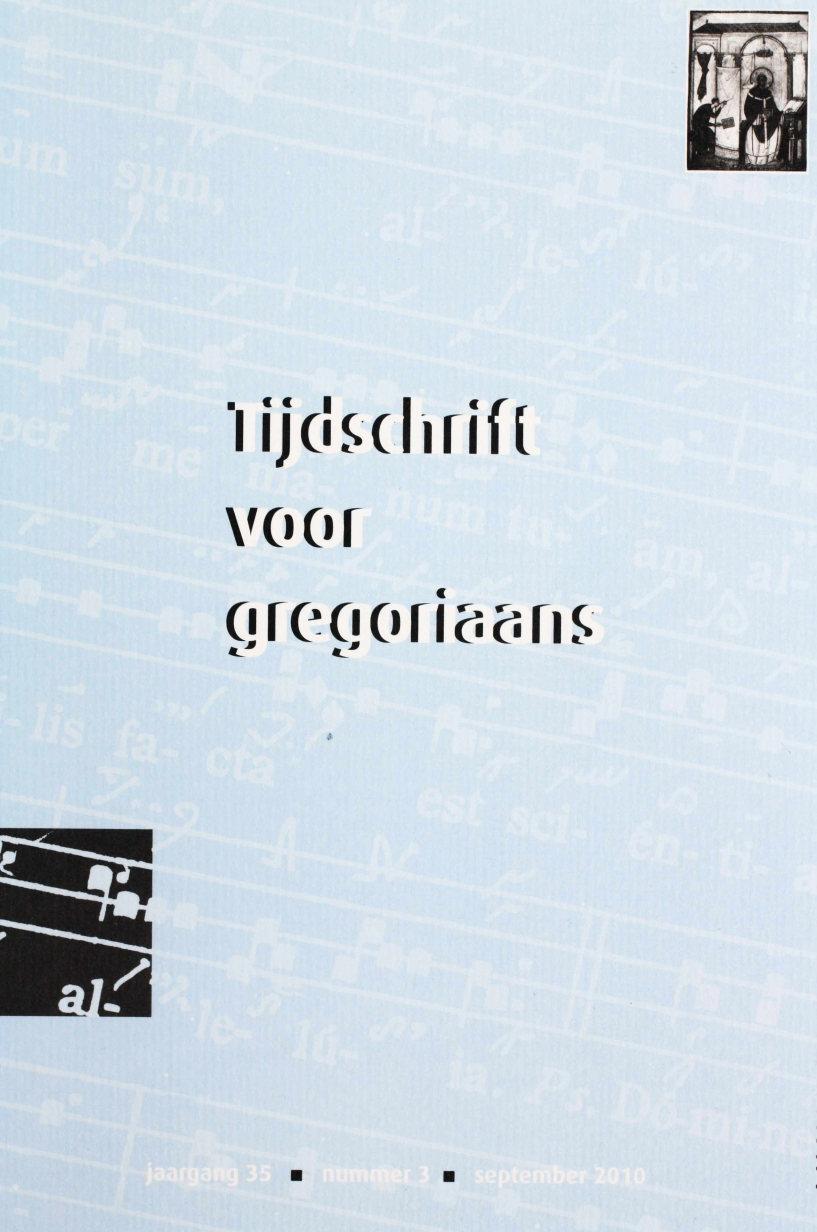 Tijdschrift voor gregoriaans, jaargang 35, nr 3, sept. 2010