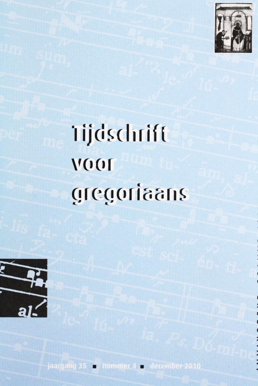 Tijdschrift voor gregoriaans, jaargang 35, nr 4, dec. 2010