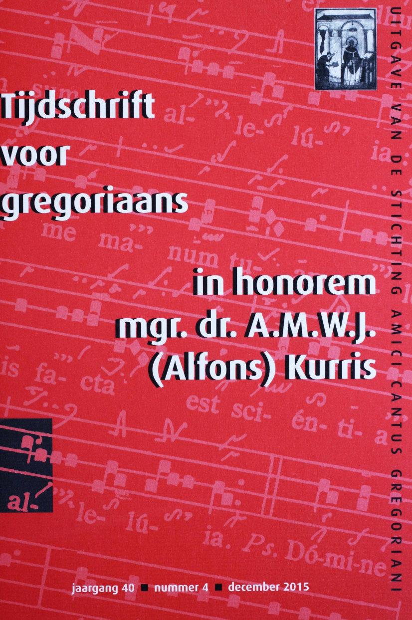 Tijdschrift voor gregoriaans, jaargang 40, nr 4, dec. 2015