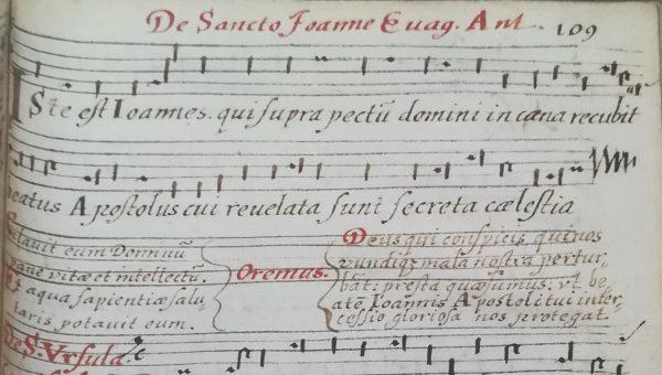 Detail handschrift Begijnhof