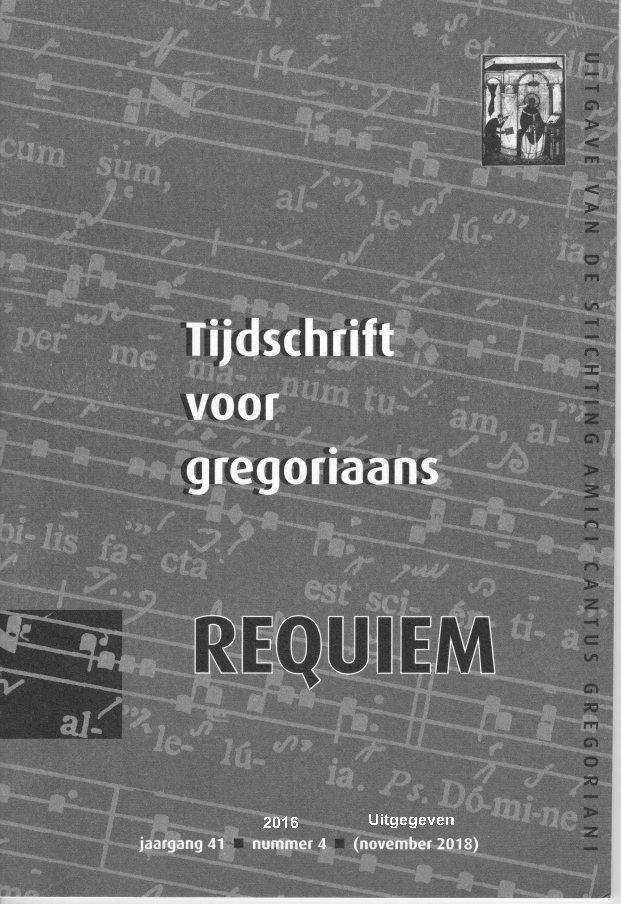 Tijdschrift voor gregoriaans, jaargang 41, nr 4, 2016 (okt. 2018)